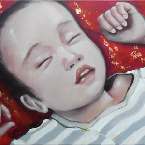 Van sleeping janelle white bluethumb art