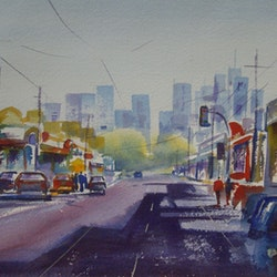 Towards melbourne cbd sue lederhose bluethumb art