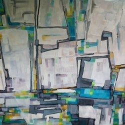 Down at the old railway sue bannister bluethumb art