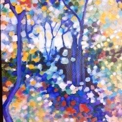 Shimmer 2 walking down the track sue bannister bluethumb art