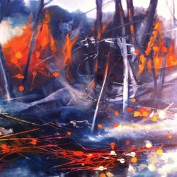 Electric fire sue bannister bluethumb art