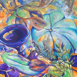Still life with the queensland blue sue bannister bluethumb art