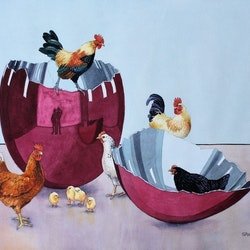 Jeff s chooks graeme whittle bluethumb art