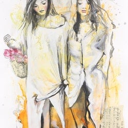 Side by side sara riches bluethumb art