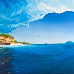 Island escapades scott denholm bluethumb art