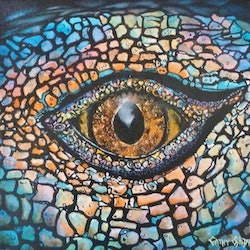 Eye of lizard cathy gilday bluethumb art
