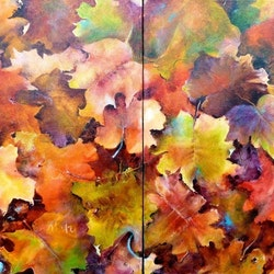 Autumn duo cathy gilday bluethumb art
