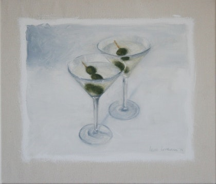 Still Life with Double Dry Martini