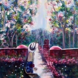 The road ahead 60x75x3 5 ready to hang gift idea louise croese bluethumb art