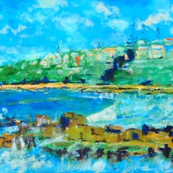 Convent beach yamba northern nsw brown timber frame margaret morgan watkins bluethumb art