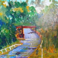 Long walk home kilmore east margaret morgan watkins bluethumb art