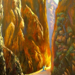 Standley chasm west macdonnell ranges nt christopher vidal bluethumb art