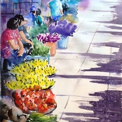 Thai market sue lederhose bluethumb art