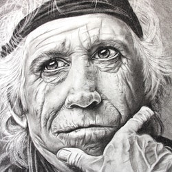 Rolling stone a3 42 by 29cm charcoals unframed linda hammond bluethumb art