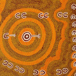 Aboriginal artist angela nagala kelly fire dreaming catherine jaktman curator bluethumb art