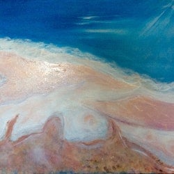 Come with me my love sea of love lake eyre mixed media series ready to hang 60x75x1 5 louise croese bluethumb art
