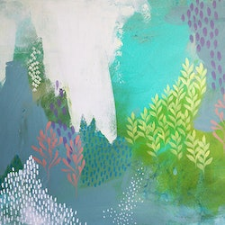 Wattle and ferns clair bremner bluethumb art