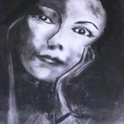 In pensive mood charcoal study margaret morgan watkins bluethumb art