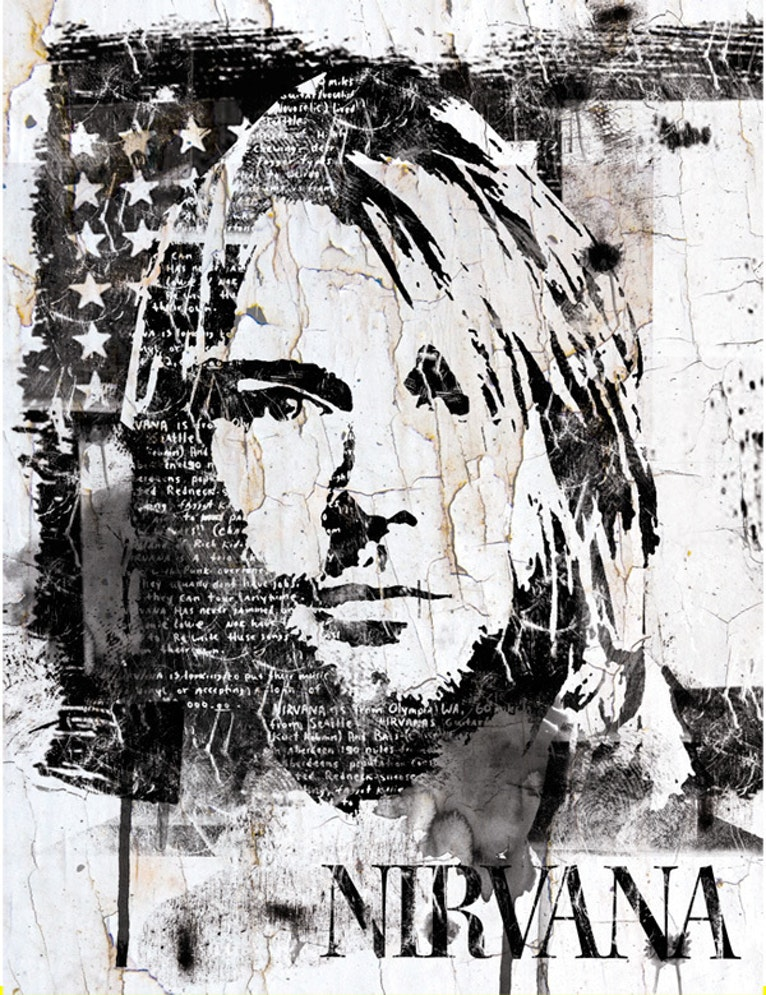 Streetart Portrait of Kurt Cobain