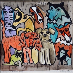Doggie bunch samantha thompson bluethumb art