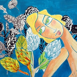My ocean garden samantha thompson bluethumb art