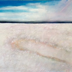 Everlasting covenant mixed media salt white ready to hang 60x75x1 5 louise croese bluethumb art