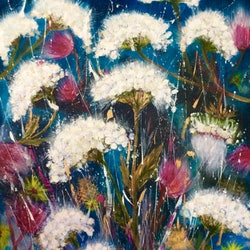 Wildflower singing wild about wild flowers series 75x60x1 5 louise croese bluethumb art