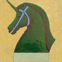 Topiary horse with horn unframed donna huntriss bluethumb art