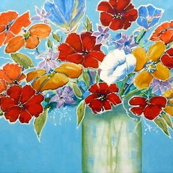 Bright flowers ron brown bluethumb art