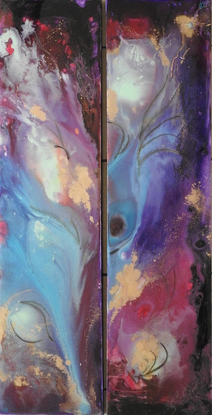 Feathers I & II (Diptych)