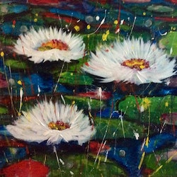 Wild on still waters wild about wild flowers series 61x76x3 5 ready to hang louise croese bluethumb art