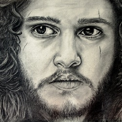 Jon snow kit harington fan art linda hammond bluethumb art