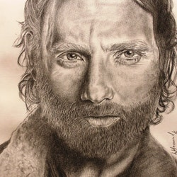 Andrew lincoln rick grimes fan art walking dead linda hammond bluethumb art