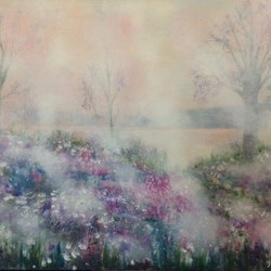 Entering the mist wild about wild flowers series 76x61x3 5 louise croese bluethumb art