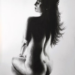 Nude woman charcoal study 27 ashvin harrison bluethumb art