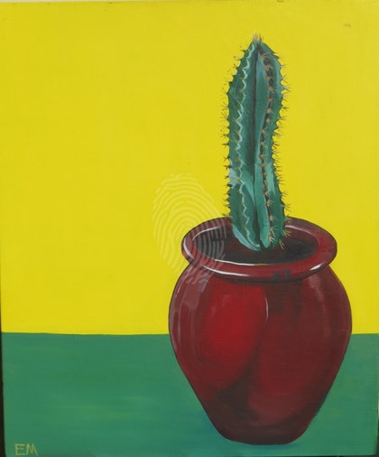 Cactus Study (yellow and green)