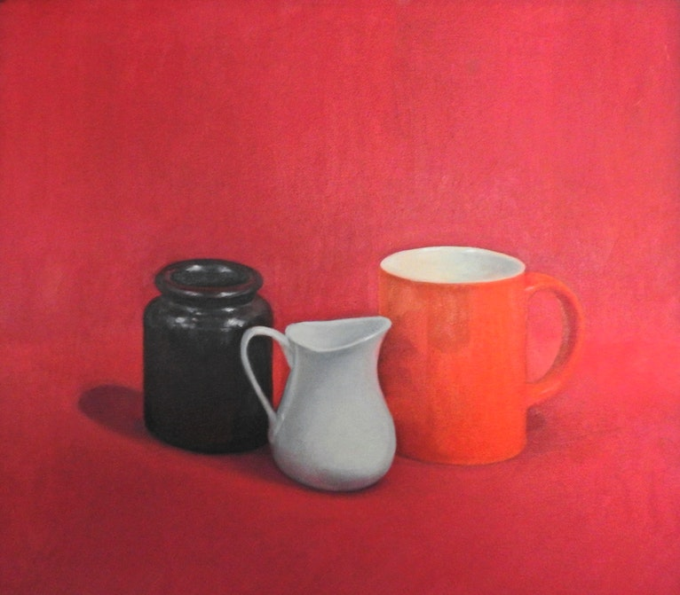 Still Life - Orange Cup & White Jug
