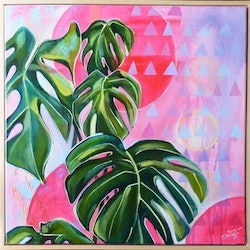 Plants on pink tamara armstrong bluethumb art