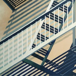 New york fire escape erin nicholls bluethumb art