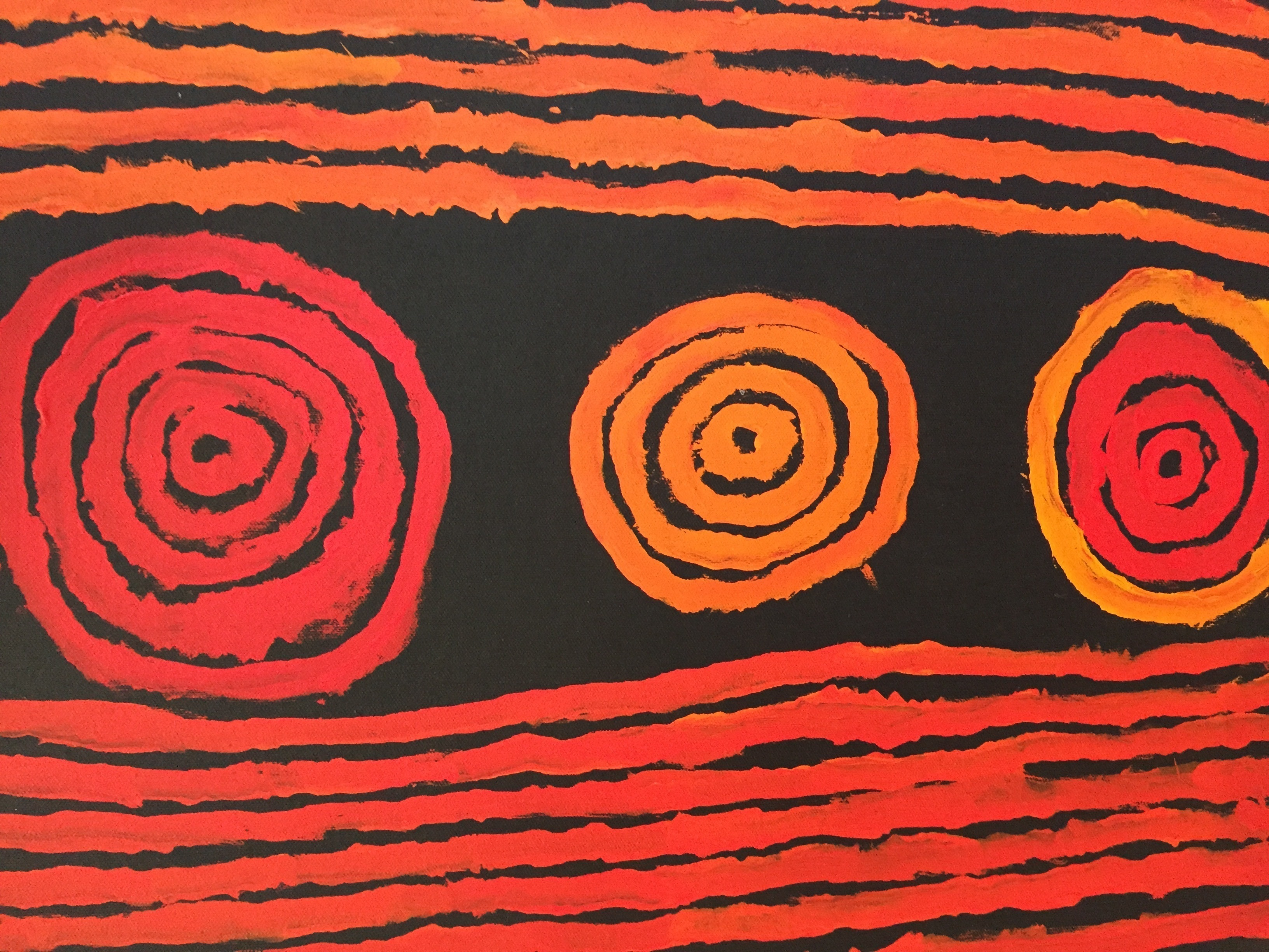 Aboriginal Artist - Frank Japanangka - Two Men Dreaming