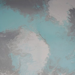 Original abstract art painting on stretched canvas mint pale green grey white debra ryan bluethumb art