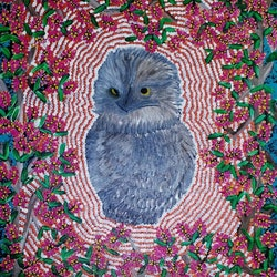 Owl in the moonlight tania ault bluethumb art
