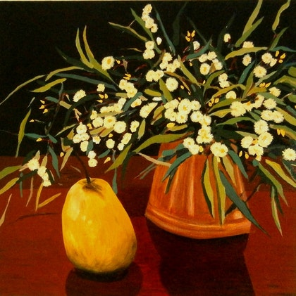 Pear and Gum Flowers