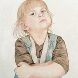 Daisy part of the cheeky children series donna christie bluethumb art