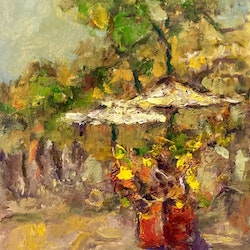 Flower stall robert abrahams bluethumb art
