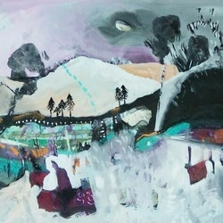 Winter landscape 2 susan trudinger bluethumb art
