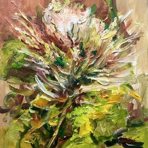 Protea flower robert abrahams bluethumb art