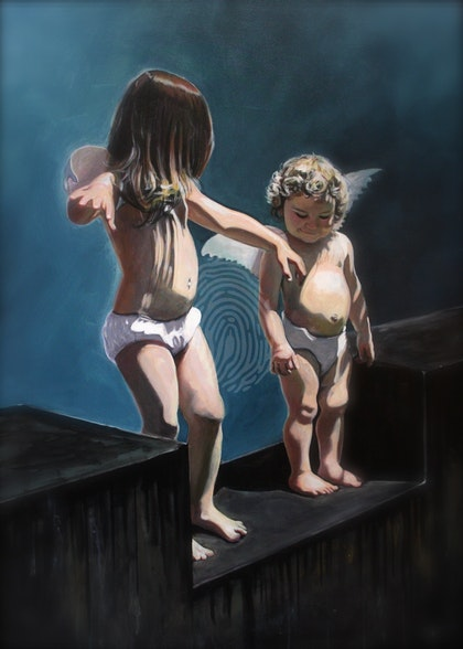 'Learning to Fly #7: Learning to Fly' ed. 1 of 1 - artist proof float mounted with matt Ed. 1 of 1
