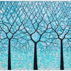 Trees of life ocean blues miranda lloyd bluethumb art
