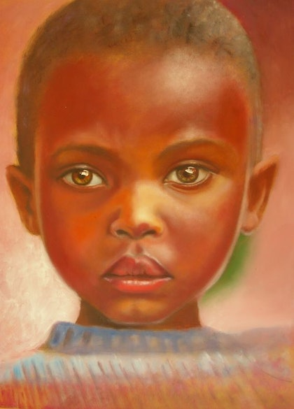 African girl with brown eyes